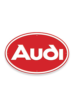 Audi Oval Metal Sign Thumbnail
