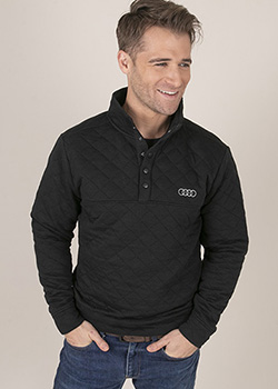Quilted Snap Placket Pullover - Mens Thumbnail