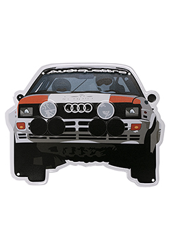 Audi quattro Rally Car Metal Sign Thumbnail