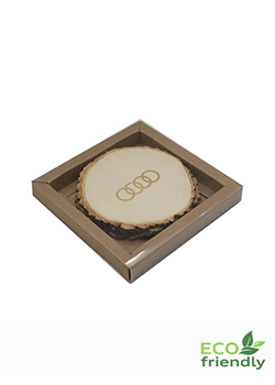 Audi Tree Slice Coaster Set of 4 Thumbnail