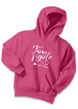 Massey Ferguson Youth Farm Girl Hoodie Thumbnail
