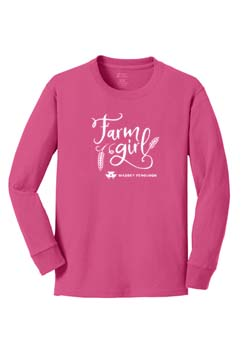 Massey Ferguson Youth Long Sleeve Farm Girl T-Shirt Thumbnail