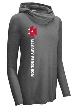 Massey Ferguson Women's Tri-Blend Hooded T-Shirt Thumbnail