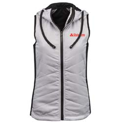 Women's Quilted Hooded Vest Thumbnail