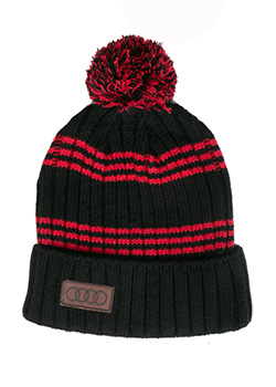 Striped Toque With Pom Thumbnail