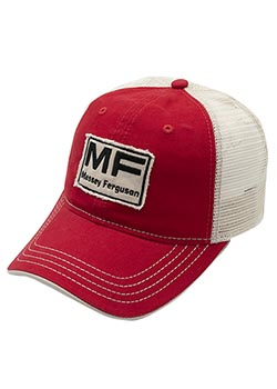 Mens Womens Washed Rock Cap Camo Flat-Brimmed Hat Massey-Ferguson-Logo